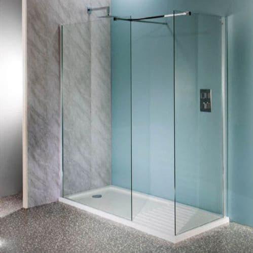 Deluxe10 500mm Wet Room Shower Screen 10mm Glass Walk-In Panel