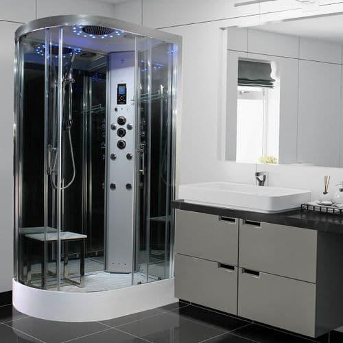 Insignia Platinum RIGHT 1100mm x 700mm Offset Quadrant Steam Shower Cabin Customise Frame / Glass
