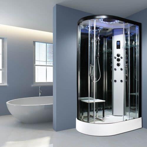 Insignia Platinum Right 1100mm x 700mm Non Steam Quadrant Hydro Shower Cabin Customise Frame / Glass