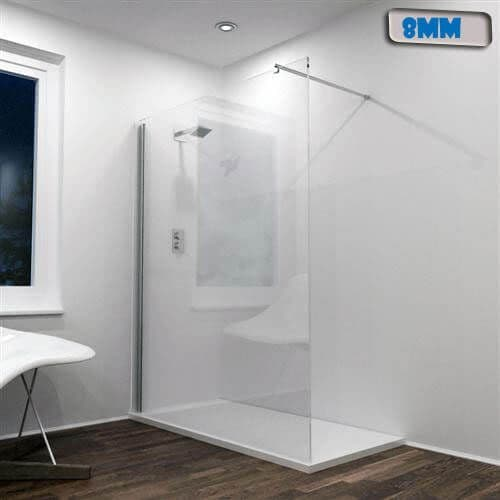 Jupiter 1200mm Wet Rooms Shower Screen Panel Silver