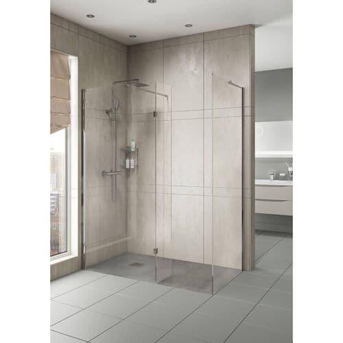 Jupiter 700mm Wet Room Shower Screen 8mm Glass Walk in Shower Panel