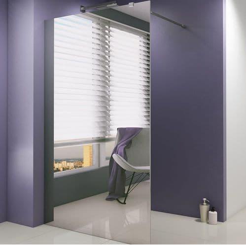 Jupiter 800mm Mirrored 8mm Wet Room Shower Mirror Screen Panel