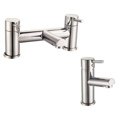 Jupiter Berlin Chrome Basin Mixer & Bath Filler Tap Pack Set