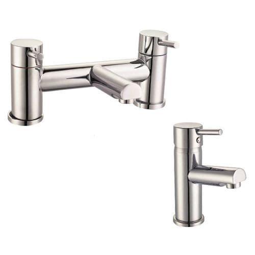 Jupiter Berlin Chrome Basin Mixer & Bath Filler Tap Pack Set