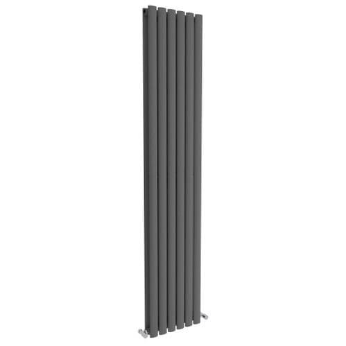 Jupiter Catherine Anthracite Vertical Double Panel Column Designer Radiator L 1800mm x W 354mm
