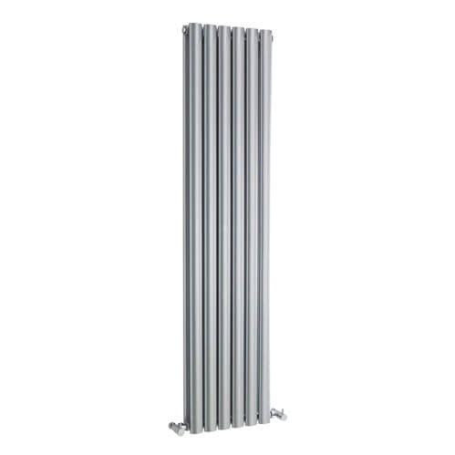 Jupiter Catherine Silver Vertical Designer Radiator L 1800mm x W 354mm Double Panel Column