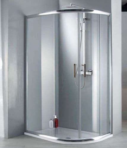 Jupiter Clarence 1000mm x 800mm Offset Quadrant Shower Enclosure 6mm Glass