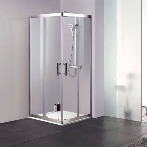 Jupiter Clarence 800mm x 800mm Square Corner Entry Shower Enclosure 6mm Glass