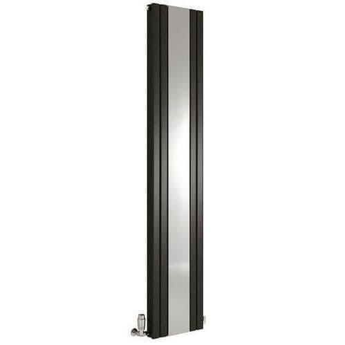 Jupiter Elsie 1800 x 381mm Anthracite Double Panel Vertical Column Radiator with Mirror