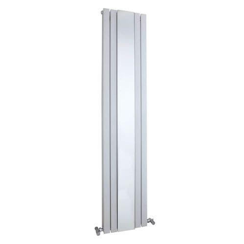 Jupiter Elsie White Double Panel Vertical Radiator with Mirror 1800 x 381mm Double Panel Column