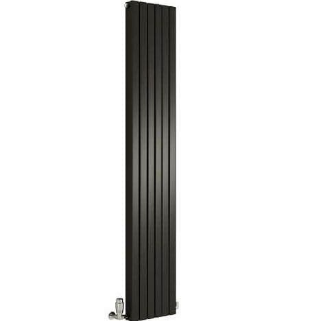 Jupiter Heather Anthracite  Double Panel Vertical Radiator 1800 x 354mm Double Panel Column