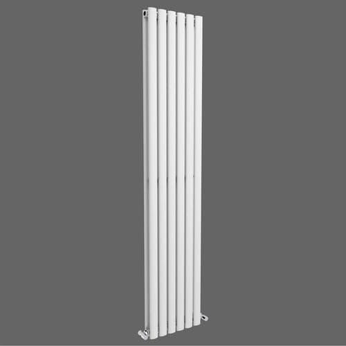 Jupiter White Vertical Designer Radiator L 1800mm x W 354mm Double Panel Column