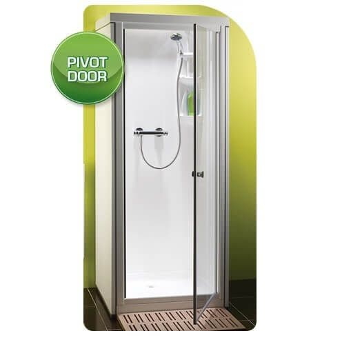 Kubex Kingston Compact Leak Proof Fully Assembled Shower Pod Cubicle Pivot Door White 700m x 705mm