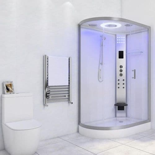 Lisna Waters LW20 1200 x 800 Hydro Shower Cabin Right Handed White Offset Quadrant Enclosure