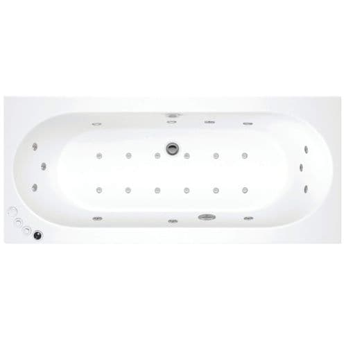 Lisna Waters Maple 1700mm x 750mm Double Ended Whirlpool Bath & Air Spa Bath 24 Jet Encore System