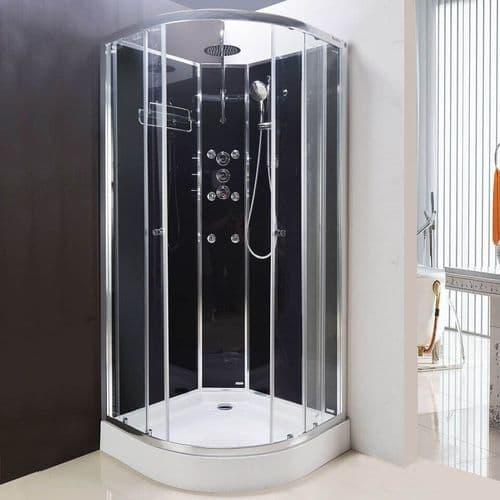 Lisna Waters Olympia Mirror 900 x 900mm Hydro Massage Shower Cabin LW15M