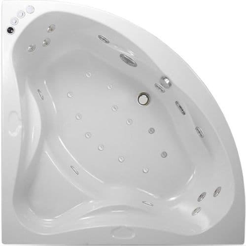Lisna Waters ULTRIO 1400mm x 1400mm Corner Whirlpool Bath & Air Spa Bath 24 Jet Encore System