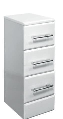 NUIE 350mm x 330mm Classic Gloss White 3 Drawer Unit VTY004