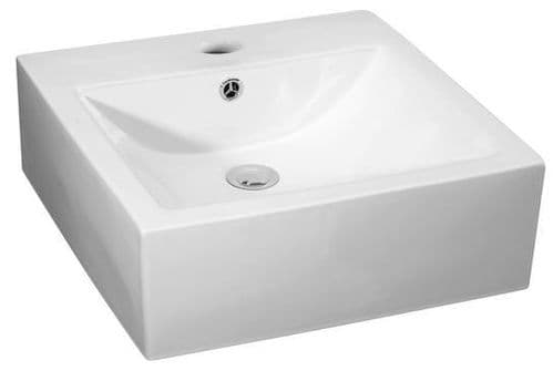 NUIE 450mm Rectangular Ceramic Surface Mounted Basin 160 x 470 x 450mm