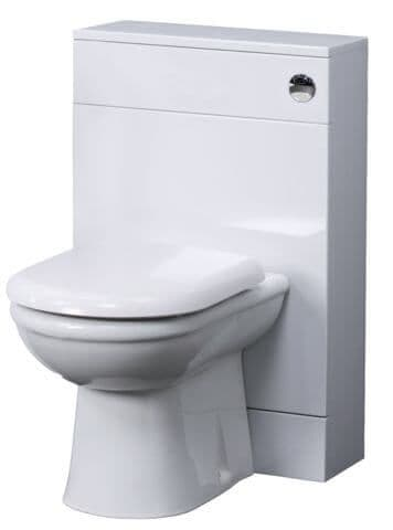 NUIE 500mm x 200mm Gloss White Minimalist WC Unit VTYW200 No Cistern