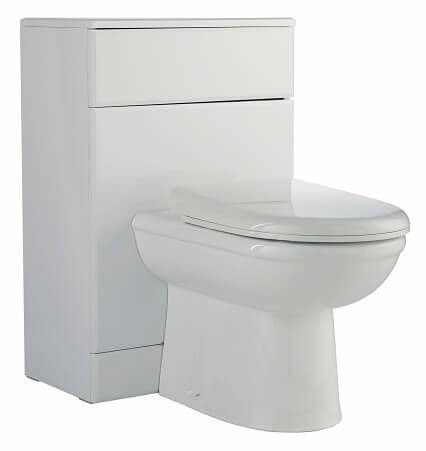 NUIE 600mm x 300mm Classic Gloss White WC Unit VTY034 No Cistern