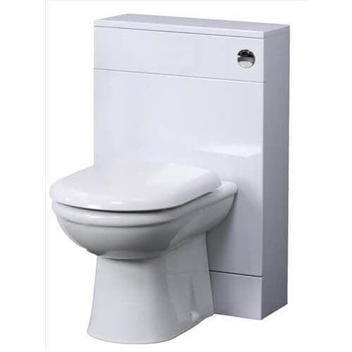 NUIE 600mm x 330mm Classic Gloss White WC Unit VTY035 No Cistern