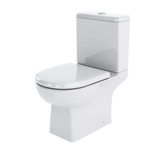 NUIE Asselby Close Coupled Toilet and Cistern 810 x 410 x 670mm