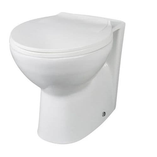 NUIE Brisbane Ceramic Back to Wall Toilet 400 x 355 x 520mm