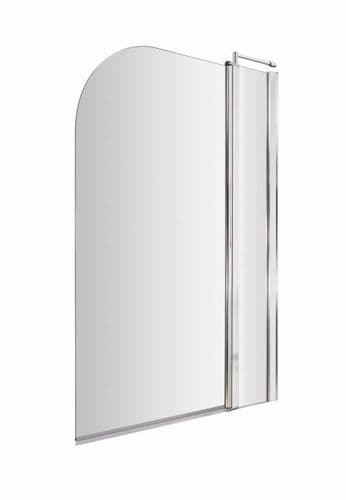 NUIE Chrome Straight Bath Screen With Fixed Panel 1435 x 985mm
