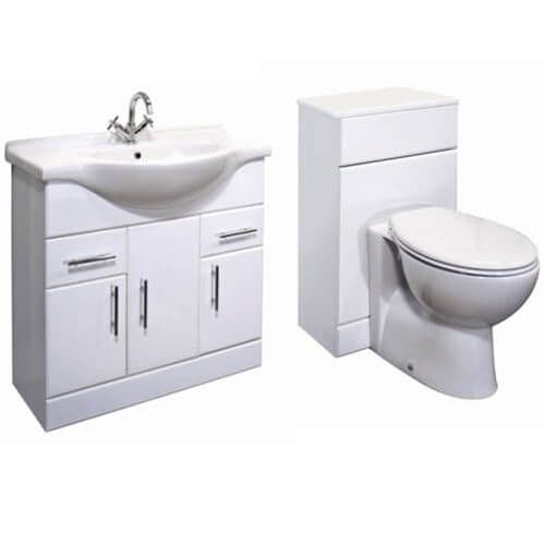 NUIE Delaware Classic 1350mm  Bathroom Cloakroom Vanity Unit Pack