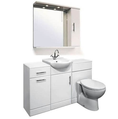 NUIE Delaware Classic Cloakroom Suite 450mm Vanity Unit Pack