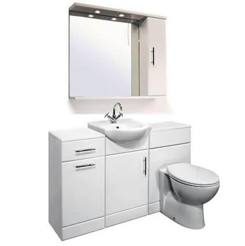 NUIE Delaware Classic Cloakroom Suite 450mm Vanity Unit Pack