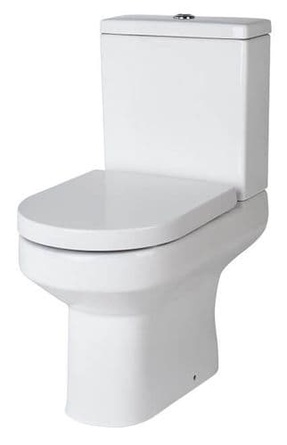 NUIE Harmony Close Coupled Toilet, Cistern and Soft Close Seat 820 x 365 x 620mm