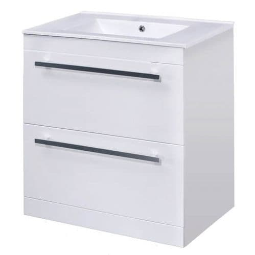 NUIE High Gloss White Floor Standing Basin Vanity Unit 1000mm