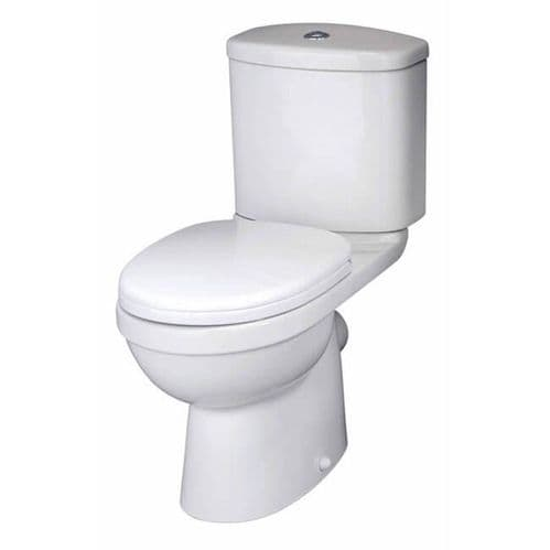 NUIE Ivo Close Coupled Toilet, Cistern and Soft Close Seat 780 x 375 x 630