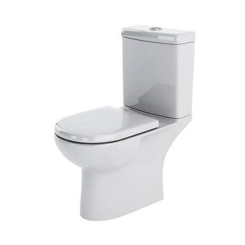 NUIE Lawton Close Coupled Compact Short Projection Toilet and Cistern 805 x 360 x 630mm