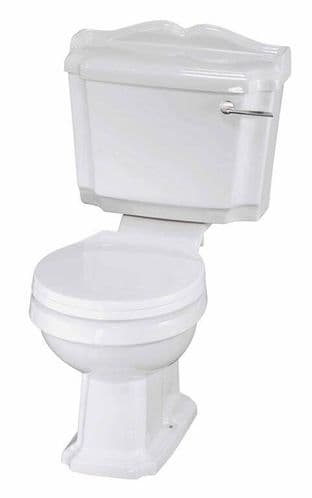 NUIE Legend Close Coupled Toilet, Cistern and Soft Close Seat 860 x 480 x 760mm