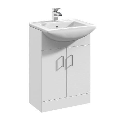NUIE Mayford 550mm White Bathroom Furniture Vanity Unit and Basin