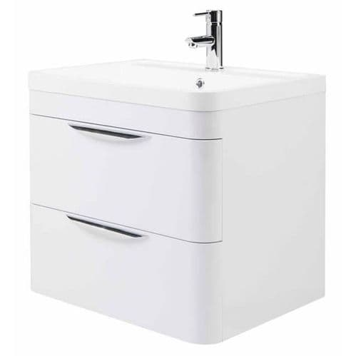 NUIE Parade 600mm Wall Mounted Cabinet and Basin 500 x 569 x 445mm