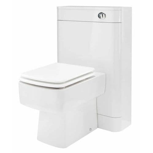 NUIE Parade Back To Wall 500mm WC Unit with Back to Wall Toilet & Soft Close Seat