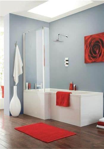 NUIE Square Shower Bath 1700 x 850 x 700mm