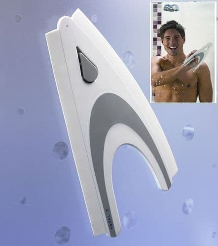 Aqualux Shower Blade Glass Cleaner Window Squeegee Easy Grip Wall  Curved Bath Screen