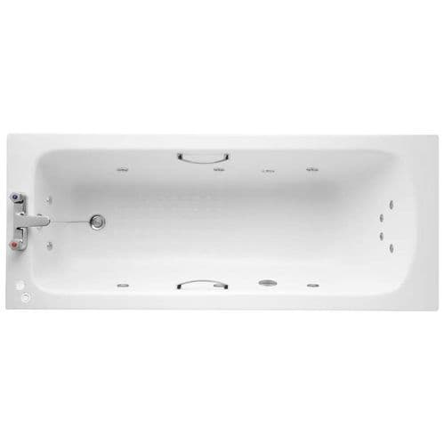 Armitage Shanks Sandringham 21 - 1700 x 700mm 12 Jet Encore Whirlpool Bath Hand grips Single Ended