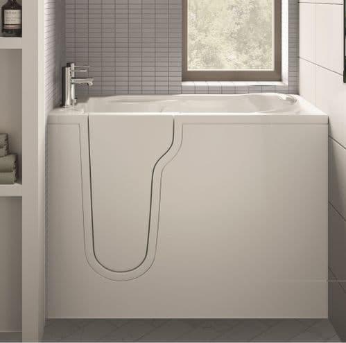 Athena Mini Left Hand Deep Soaker Walk In Bath 1060mm x 660mm
