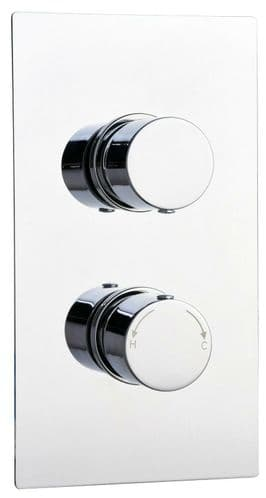 Barcelona Modern Round Twin Concealed Thermostatic Shower Mixer Valve