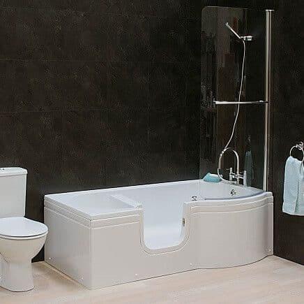 Calypso Left Hand Walk In Shower Bath 1675mm x 850mm