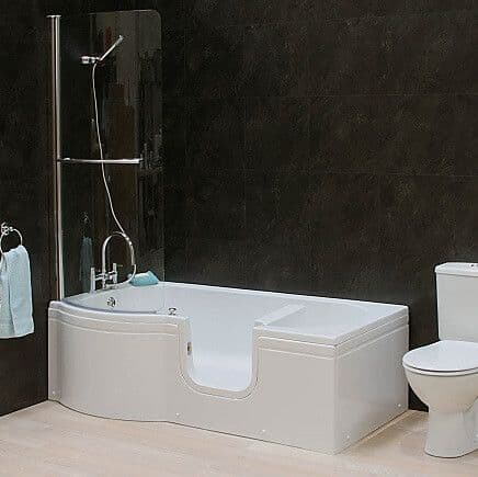 Calypso Right Hand Walk In Shower Bath 1675mm x 850mm