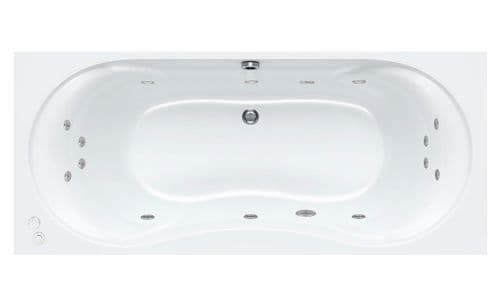Carron 1700mm x 750mm ARC DUO Double Ended Whirlpool Bath 14 Jets System