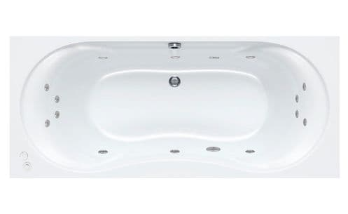 Carron 1800mm x 800mm ARC DUO Double Ended Whirlpool Bath 14 Jets System