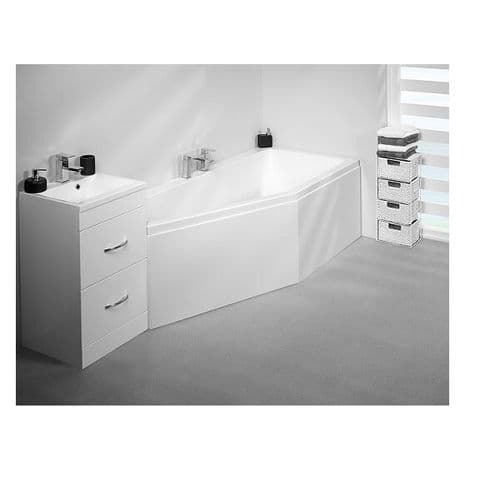 Carron Quantum Space Saver Left Hand Bath 1700 x 750 x 400mm